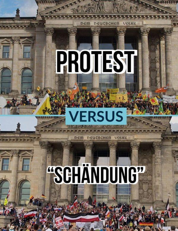 Protest vs. Schändung