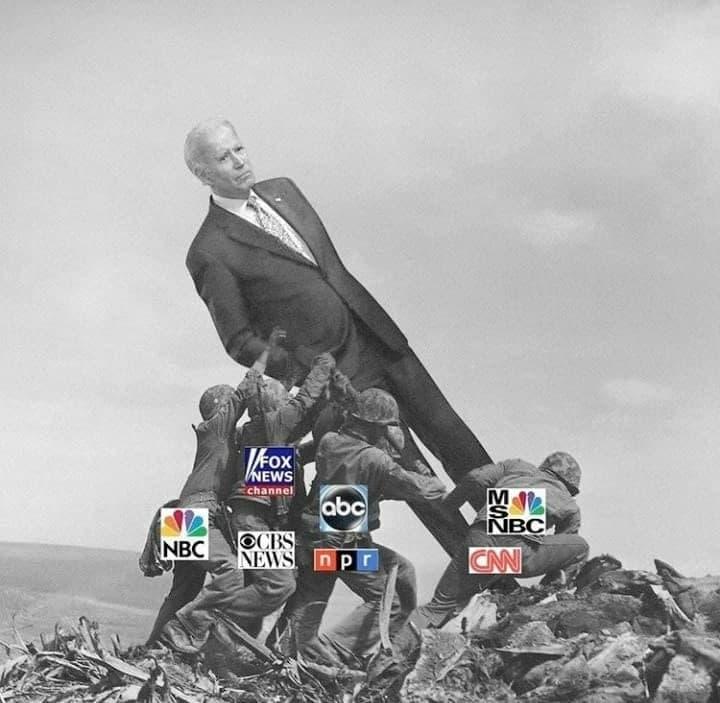 Joe Biden wird vom Mainstream gestützt