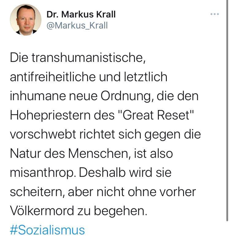 Markus Krall zum Great Reset