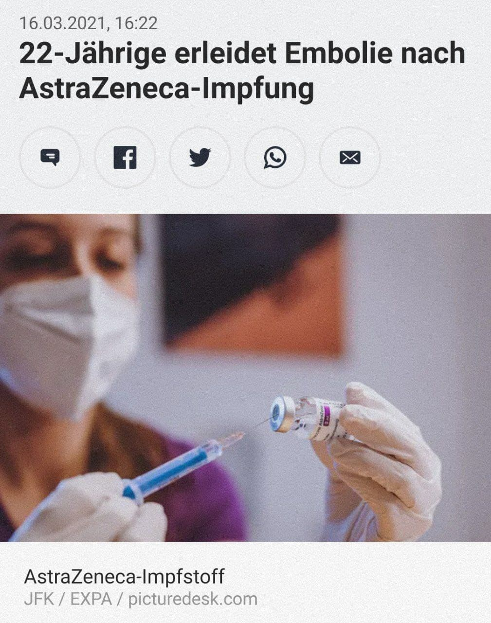 AstraZeneca Embolie