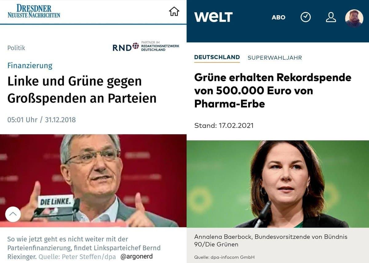 Korruption Grüne