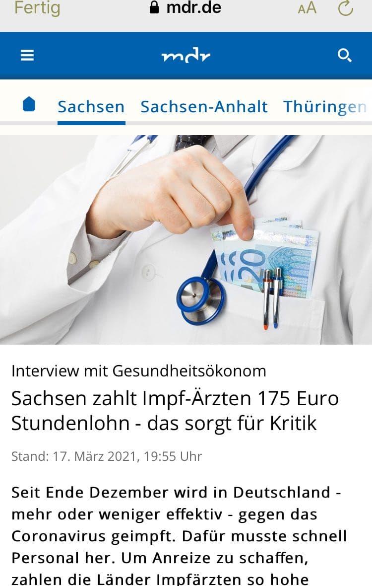 Sachsen besticht Ärzte
