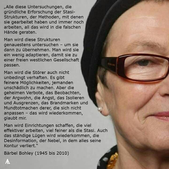 Zitat Bärbel Bohley
