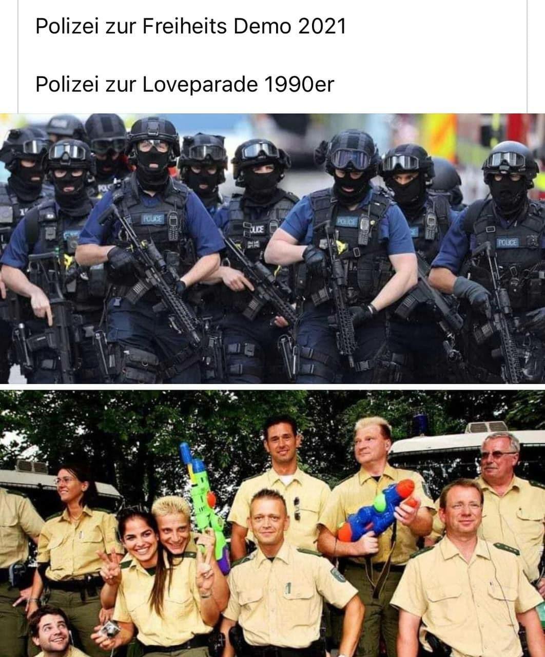 Polizei gestern und heute