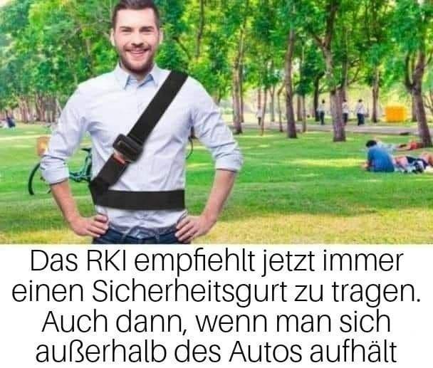 RKI empfiehlt Sicherheitsgurt