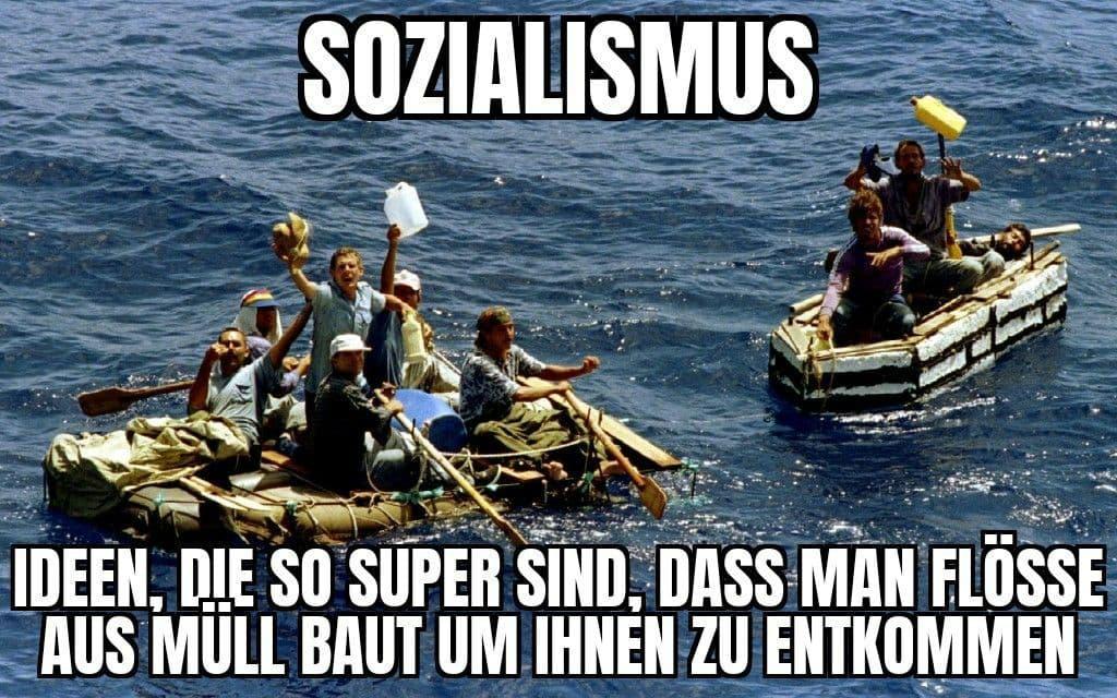 Sozialismus auf dem Floß