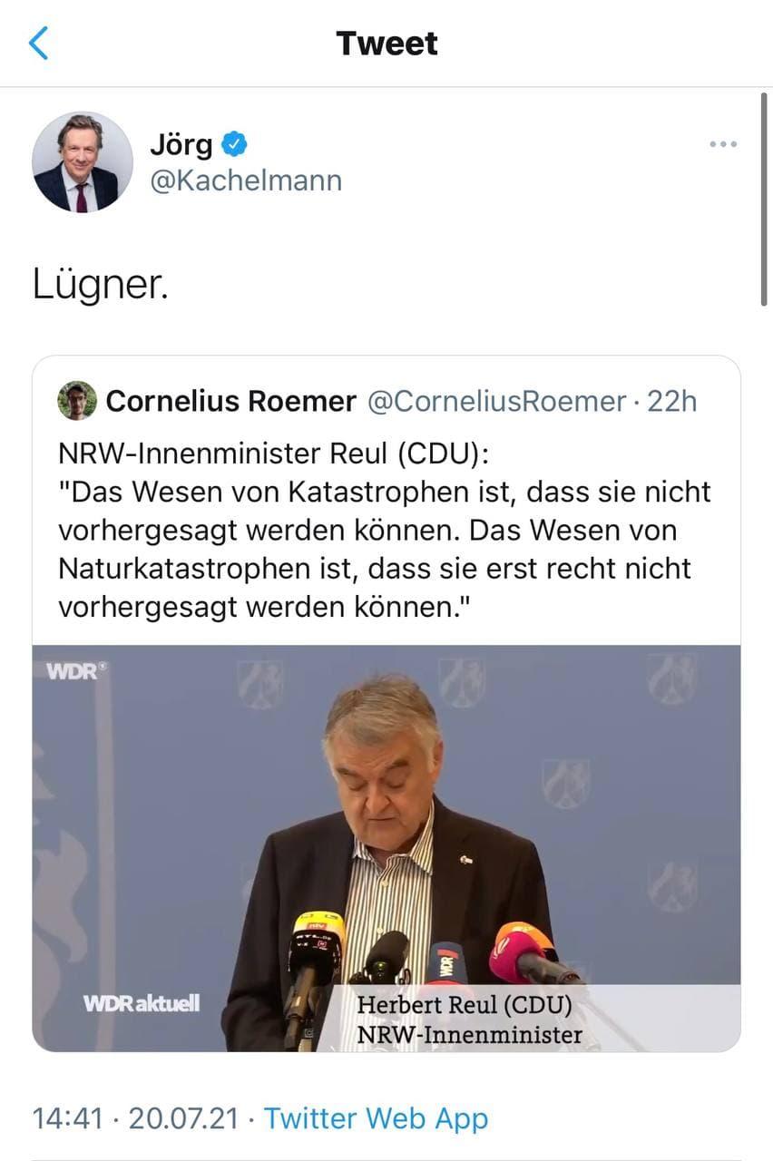 Kachelmann antwortet auf Reul