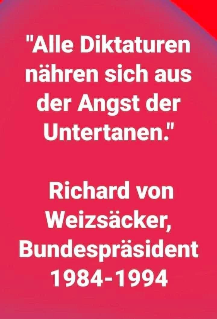 Zitat Weizsäcker Angst