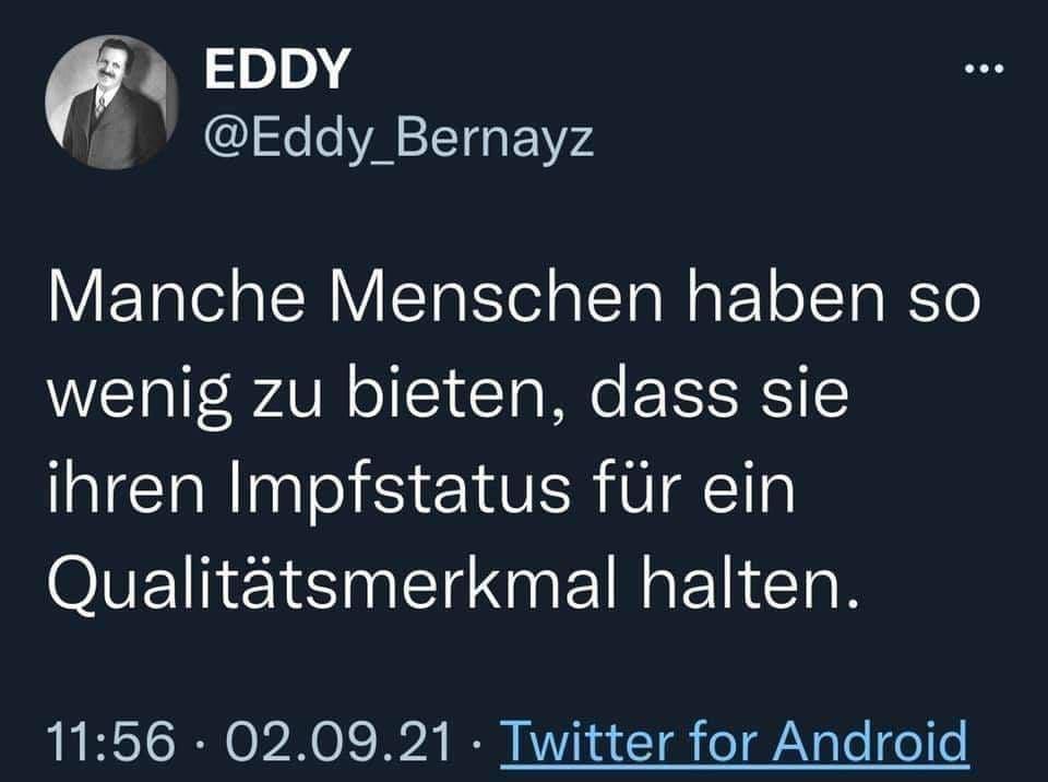 Eddy zum Impfstatus
