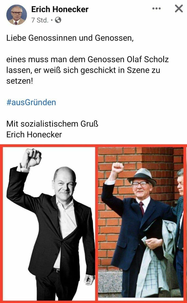Honecker und Scholz
