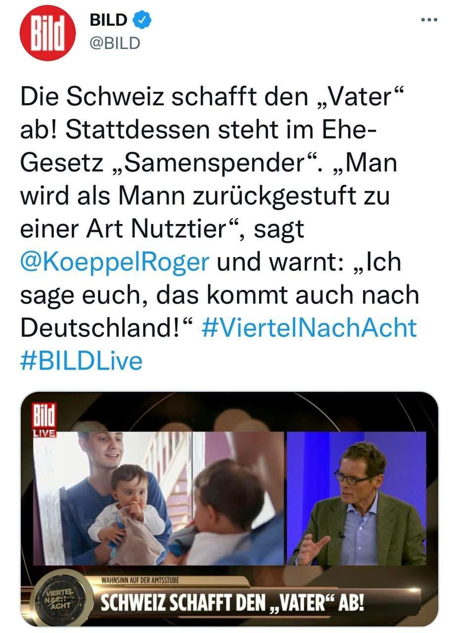 Schweiz schafft Vater ab