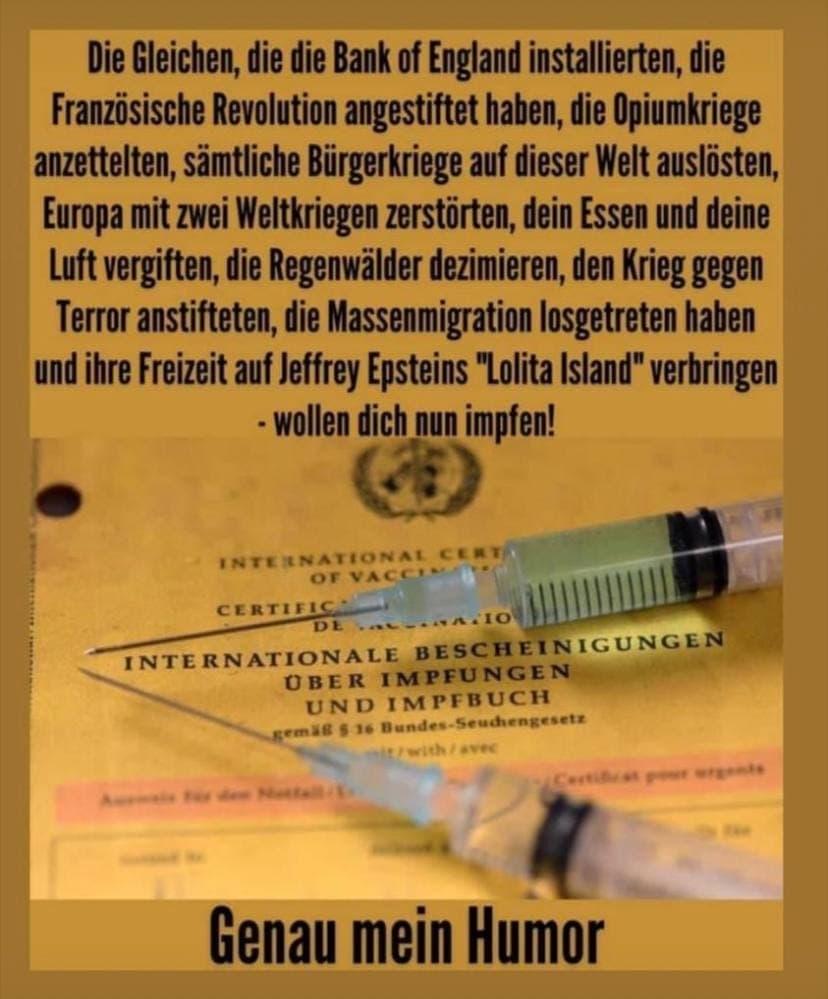 Wer will Dich impfen